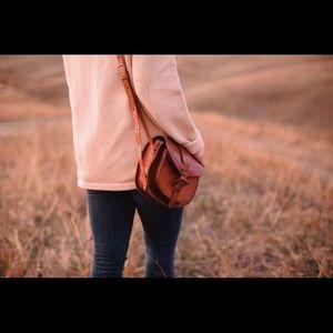 Hand Tooled Leather Shoulder Bag Guatemala